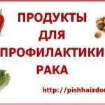 продукты для профилактики рака