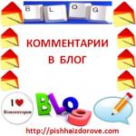 Комментарии в блог