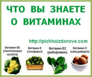 Что вы знаете о витаминах