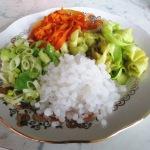 Рис Ширитаке с овощами