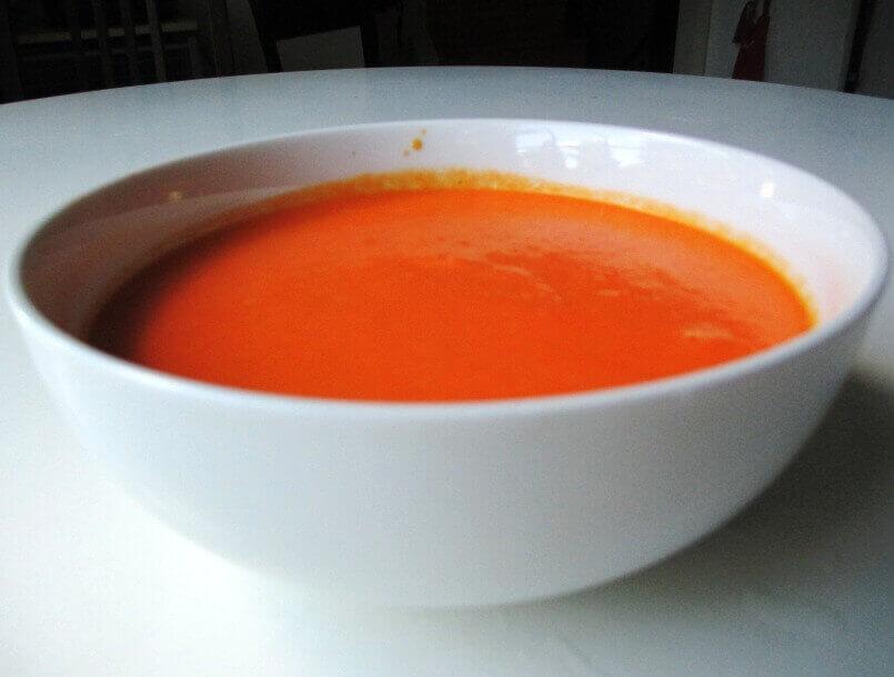Суп пюре из моркови c имбирем