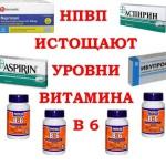 НПВП истощают уровни витамина В 6