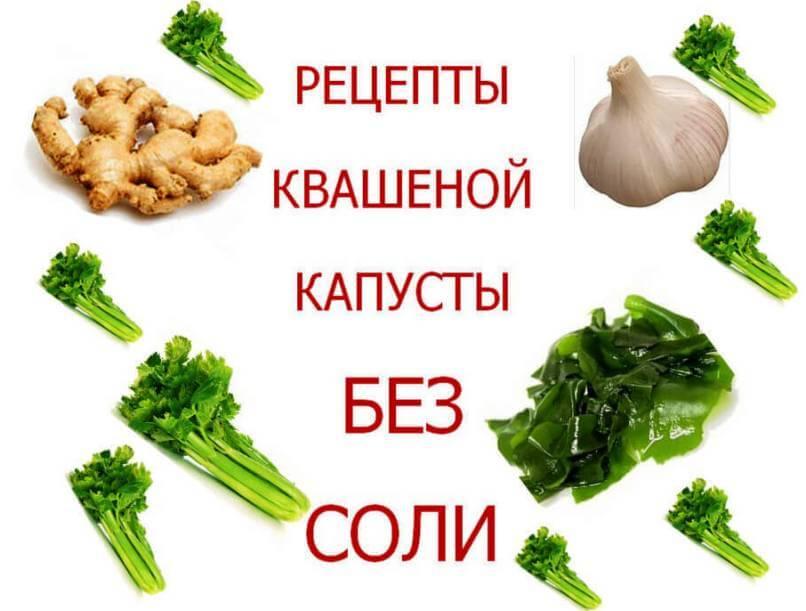 Рецепты квашеной капусты без соли